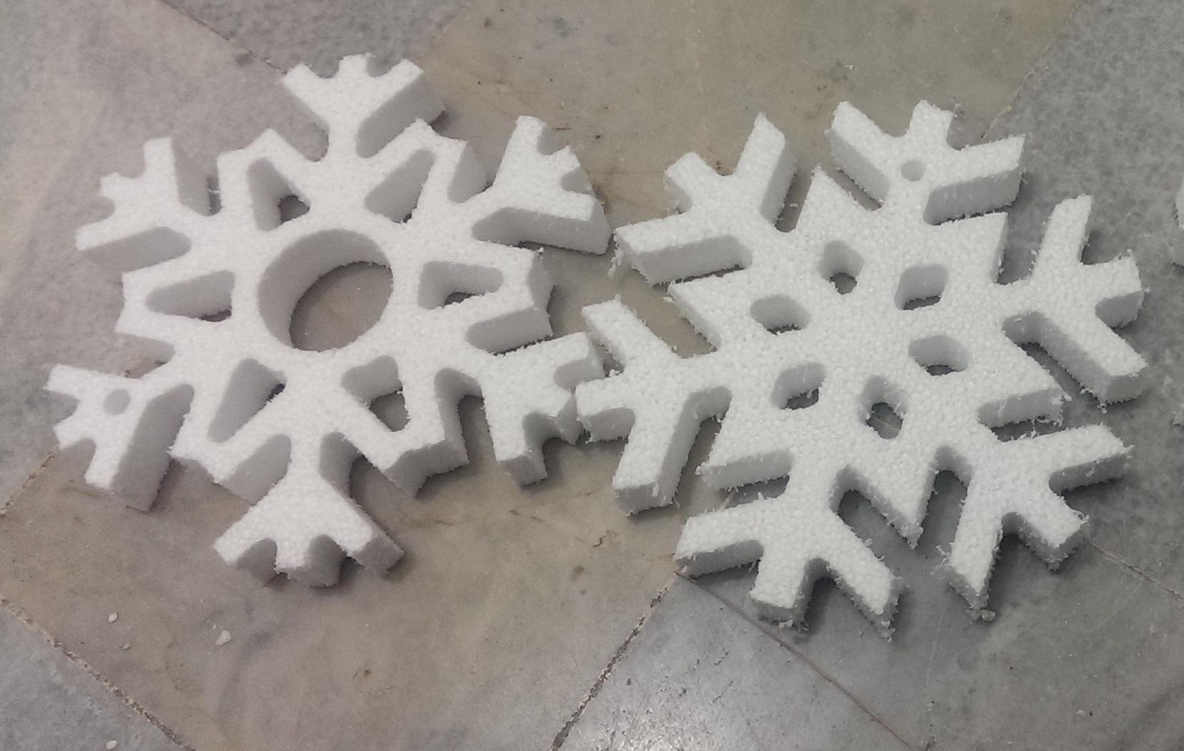 یونولیت دانه برف دکور تزیین تزینات سه بعدی دو بعدی یونولیت پلاستوفوم