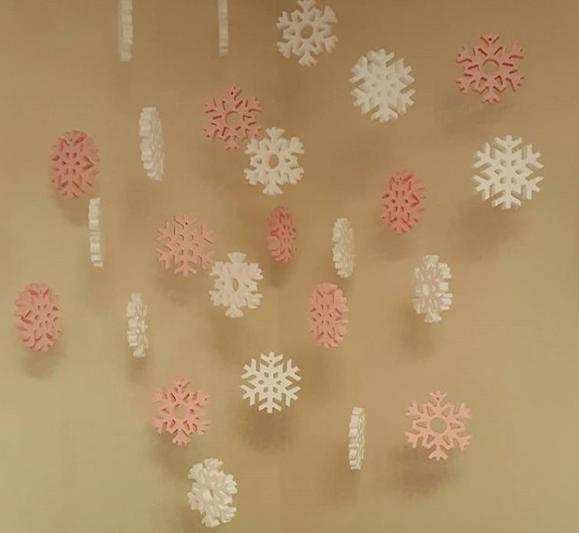 تزیینات کریسمس ، دانه برف ، برف یونولیتی ، آویز برف ، دکور تولد ، تزیینات تولید ، تزیین درخت کریسمس